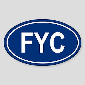 FYC Oval Sticker