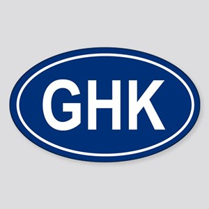 GHK Oval Sticker