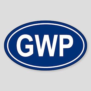 GWP Oval Sticker