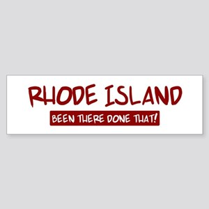 Rhode Island (been there) Bumper Sticker