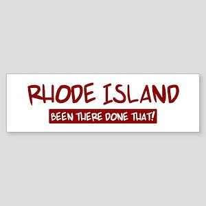 Rhode Island (been there) Bumper Sticker