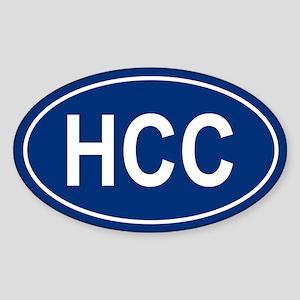 HCC Oval Sticker