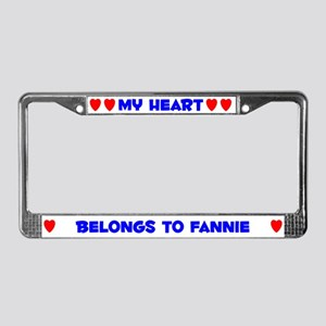 My Heart: Fannie (#005) License Plate Frame
