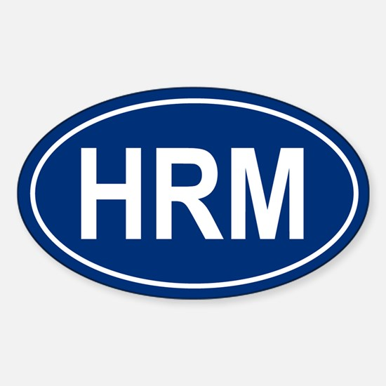 HRM Oval Decal