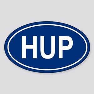 HUP Oval Sticker