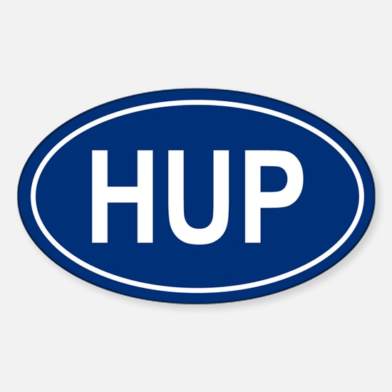 HUP Oval Decal