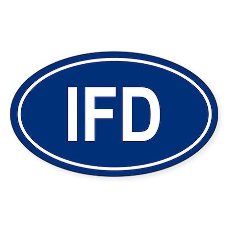 IFD Oval Sticker