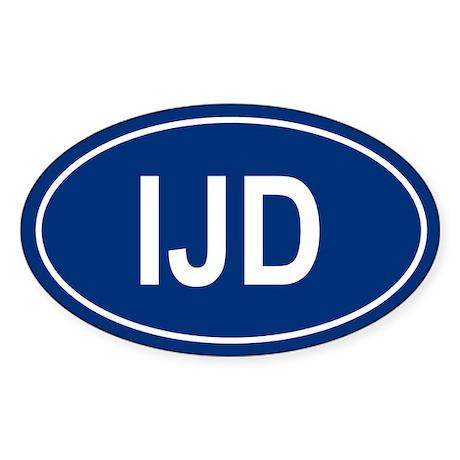 IJD Oval Sticker