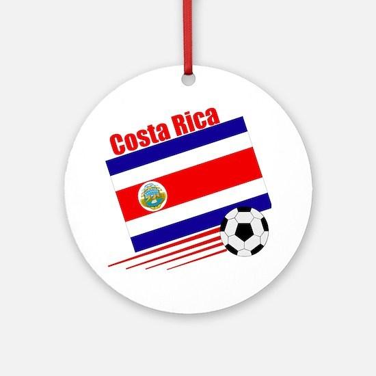 Costa Rica Soccer Team Ornament (Round)