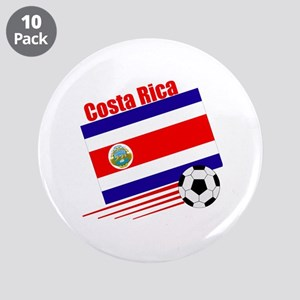 "Costa Rica Soccer Team 3.5"" Button (10 pack)"
