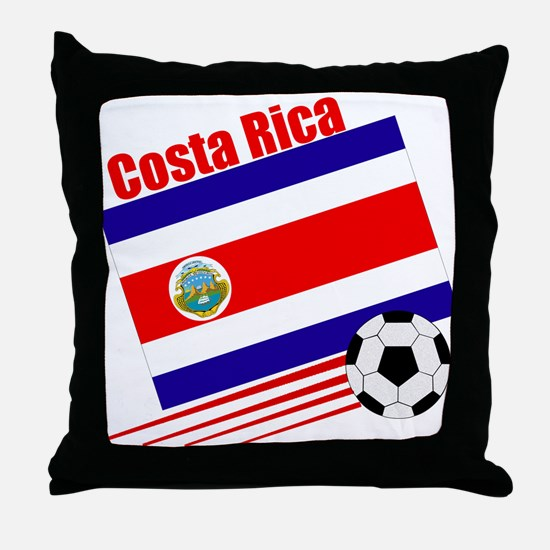 Costa Rica Soccer Team Throw Pillow