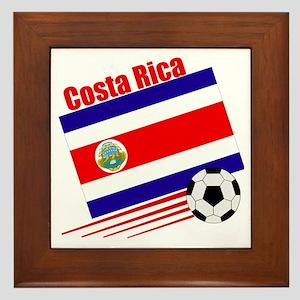 Costa Rica Soccer Team Framed Tile