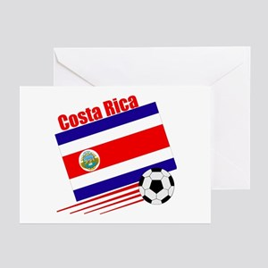 Costa Rica Soccer Team Greeting Cards (Pk of 10)