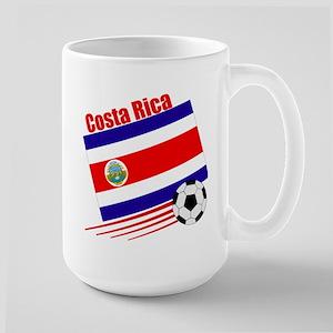 Costa Rica Soccer Team Large Mug