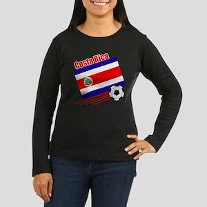 Costa Rica Soccer Team Women's Long Sleeve Dark T-