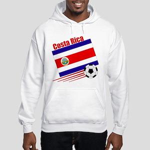 Costa Rica Soccer Team Hooded Sweatshirt