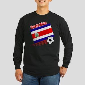 Costa Rica Soccer Team Long Sleeve Dark T-Shirt
