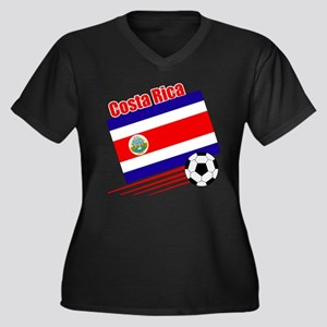Costa Rica Soccer Team Women's Plus Size V-Neck Da