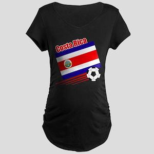 Costa Rica Soccer Team Maternity Dark T-Shirt