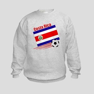 Costa Rica Soccer Team Kids Sweatshirt