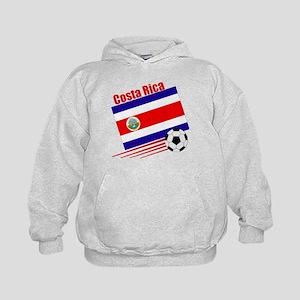 Costa Rica Soccer Team Kids Hoodie