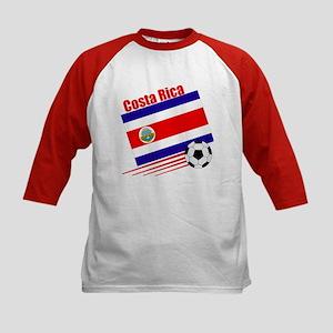 Costa Rica Soccer Team Kids Baseball Jersey