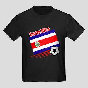 Costa Rica Soccer Team Kids Dark T-Shirt