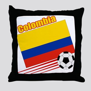 Colombia Soccer Team Throw Pillow