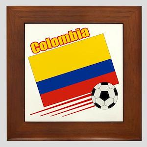 Colombia Soccer Team Framed Tile