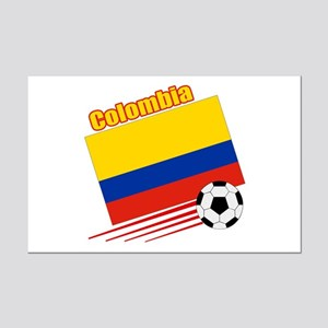 Colombia Soccer Team Mini Poster Print