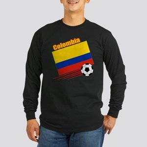 Colombia Soccer Team Long Sleeve Dark T-Shirt
