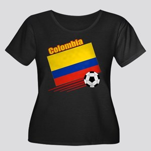 Colombia Soccer Team Women's Plus Size Scoop Neck