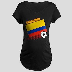 Colombia Soccer Team Maternity Dark T-Shirt
