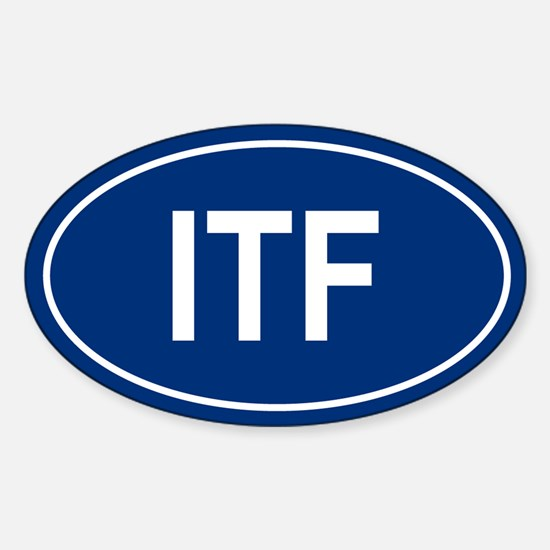 ITF Oval Decal