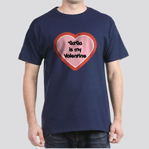 YiaYia is My Valentine Dark T-Shirt