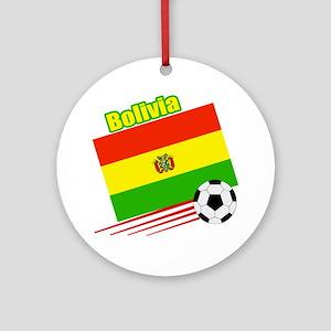Bolivia Soccer Team Ornament (Round)