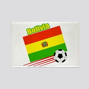 Bolivia Soccer Team Rectangle Magnet