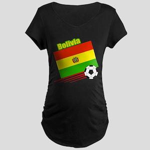 Bolivia Soccer Team Maternity Dark T-Shirt