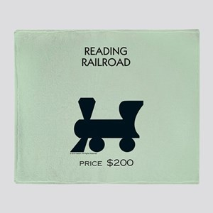 Monopoly - Reading Railroad Throw Blanket