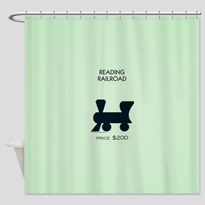 Monopoly - Reading Railroad Shower Curtain