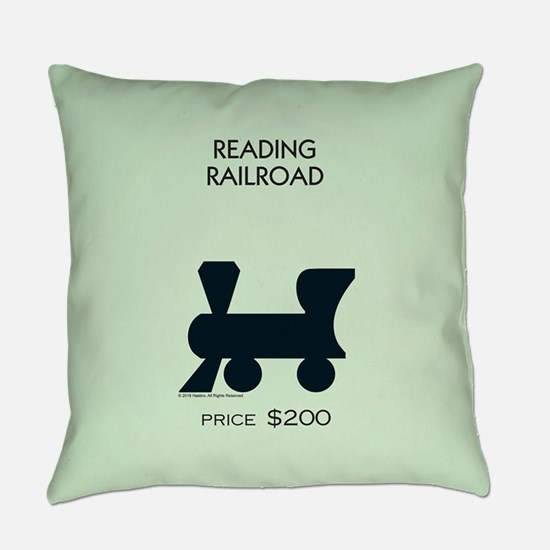 Monopoly - Reading Railroad Everyday Pillow