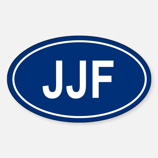 JJF Oval Decal