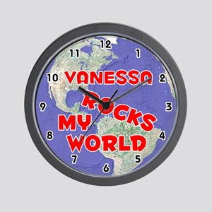 Vanessa Rocks My World (Red) Wall Clock