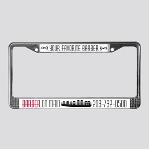 Barber On Main License Plate Frame