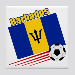 Barbados Soccer Team Tile Coaster