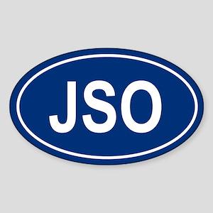 JSO Oval Sticker