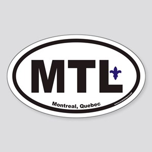 Montreal Quebec MTL Euro Oval Sticker