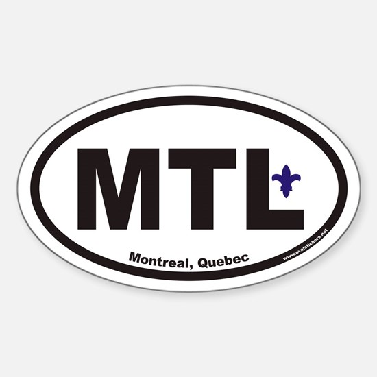 Montreal Quebec MTL Euro Oval Decal