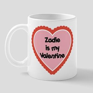 Zadie is My Valentine Mug