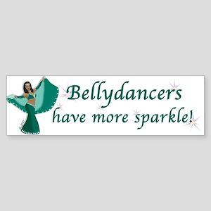 Teal Bellydancer Bumper Sticker